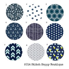 Custom Color Choice Navy Blue Fabric 2 for by StitchHappyBoutique
