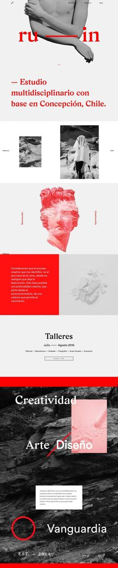 Ruin mag webdesign website beautiful minimal best cool style web html css gallery trend site of the day award … (With images) Layout Design, Web Layout, Design Web, Book Design, Web Responsive, Ui Web, Ecommerce, Interface Web, Interface Design