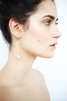 Longue boucles d'oreilles rose pastel - BOA Bijoux - Printemps 2015 / Long pastel pink drop earrings - BOA Bijoux - Spring 2015