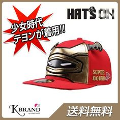 Qoo10 | 【送料無料】【国内発送】キャップ SUPER BOUND FITTED CAP 134 (RED) ◆少女時代着用帽子★ ヘッツオン ケイブ... : ファッション雑貨 Custom Caps, H Style, Kpop Fashion, Mens Caps, Snsd, Bicycle Helmet, Iron Man, Bag Accessories, Hats