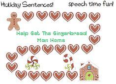 Speech Time Fun: Holiday Sentences! FREEBIE!
