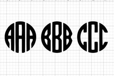 Monograms are always popular. And if you sell crafts you know monograms are in high demand. So today I'll show you how to make a free Circle Monogram on your Cricut machine. Circle Monogram Font Free, Free Monogram Designs, Cricut Monogram Font, Monogram Maker, Initial Fonts, Circle Font, Cricut Fonts, Monogram Letters, Wood Letters