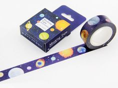 10m Planets Washi Tape Space Planets Stars... por WILDSOUL19