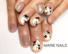 #花柄ネイル #ヴィンテージネイル #手書きアート #手書きアートネイル #ジェルネイル #ネイルデザイン #美爪 #美甲 #nails Nails, Instagram Posts, Beauty, Finger Nails, Ongles, Nail, Beauty Illustration, Manicures