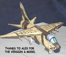 A7 Corsair downloadable paper model