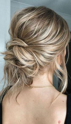 Updos For Medium Length Hair, Up Dos For Medium Hair, Medium Hair Styles, Long Hair Styles, Updo Styles, Medium Length Wedding Hair, Low Bun Wedding Hair, Bridal Hair Updo, Wedding Hair And Makeup