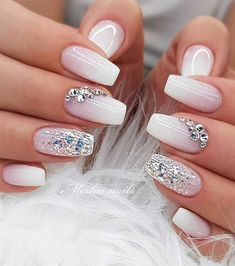 If you also mention a friend. TAG yours Friends. if you want me to promote you write me . # naildegel nails # nails # perfect nails # nails View this post … Ombre Nail Designs, Pretty Nail Designs, Nail Art Designs, Acrylic Nails Designs Short, Silver Nail Designs, Natural Nail Designs, Nail Designs Pictures, Cute Nails, Pretty Nails