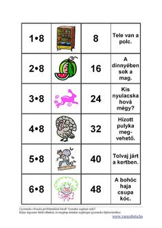 Matek 1.o-2.o - Klára2 Kovács - Picasa Webalbumok Math Activities, Mathematics, Album, Education, Kids, Minion, School, Picasa, Attila