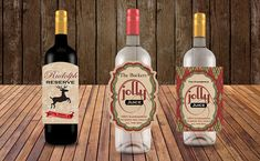 Personalized wine labels! Perfect for holiday parties! I found this really awesome Etsy listing at https://www.etsy.com/listing/541346315/christmas-wine-bottle-labels-holiday