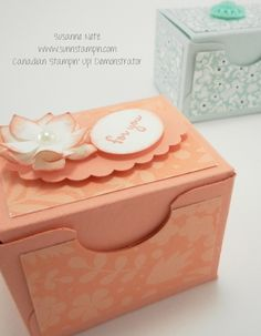 Mini box made from the Envelope Punch Board