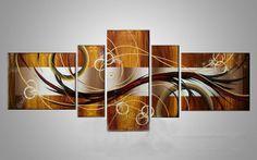 Cuadros a mano óleo sobre lienzo decoración arte cuadros de oleo abstractos con marco de estirado