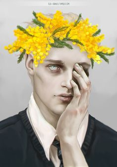 i finished my Flower Crown Boys, at last! Ronan | Adam | Gansey