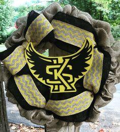 Kennesaw State Owls Burlap Wreath