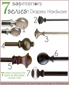 Affordable drapery hardware / curtain rodswith links to online resources by @Jenna_Burger, SASinteriors.net