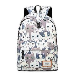 3765f18f0084 New Large Capacity Cute Cat Pattern Backpack College School Students  Rucksack. Cute Bookbags For GirlsGirl BackpacksSchool ...
