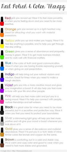 Nail Polish  Color Therapy -#nails #nailpolish #polish #nailart #naildesign #cute #fun #pretty #howto #tutorial #beauty #manicure #guide