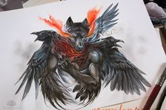 Sunkissed.。Art By :→: AlectorFencer ☆ | wolf drawings ...