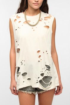 +Design // CAD    --Truly Madly Deeply Disintegrating Muscle Tee  #UrbanOutfitters