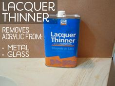 Can of lacquer thinner