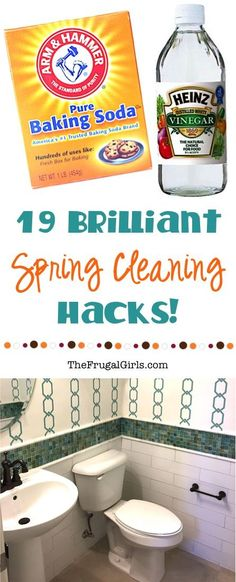 19 Brilliant Spring Cleaning Hacks! ~ from TheFrugalGirls.com ~ your house will be looking clean and fabulous in no time with these easy tips and tricks!