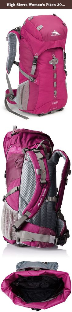 High Sierra Women's Piton 30 Internal Frame Pack, Boysenberry/Boysenberry/Ash. High Sierra designs feature-rich, versatile adventure High Sierra designs feature-rich, versatile adventure lifestyle gear for adventurers everywhere. Since our founding in 1978, we've committed ourselves to creating durable, affordable product with distinctive details, delivering the freedom to go anywhere-near or far, on roads or trails, on mountain ridges or snowy slopes, no matter what form your adventure...