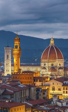 The iconic Duomo of Florence, the world's first domed cathedral.