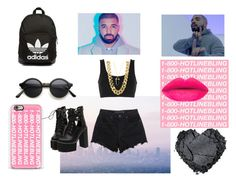"""""""60secondstyle: Drake"""" by mrs305aka ❤ liked on Polyvore featuring Drakes London, Alexander Wang, adidas Originals, Casetify, CC SKYE, WithChic, dance, DRAKE, HowToWear and 60secondstyle"""