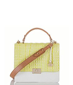 Brahmin La Scala Collection Cecelia Colorblocked Shoulder Bag #Dillards