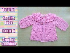 DIY Como tejer saquito, sueter, chaqueta, chambrita para bebe en crochet...