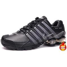 ... www.asneakers4u.com Womens Nike Shox R4 Black White Cushion5PU ...