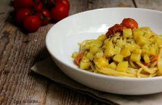 Spaghetti con pesto e patate-ricetta veloce