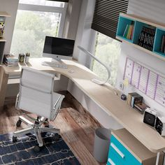 Home office and home study design ideas. Make the most of your extra space, whether you work from home, have a hobby or need an area for life admin. Home Study Design, Small Room Design, Home Office Design, Home Office Decor, House Design, Home Decor, Workspace Desk, Desks, Office Desk