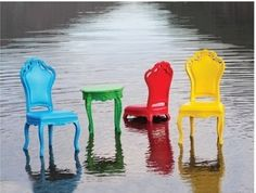 The Rococo Outdoor Chair will be perfectly at home in your Mexican office, Mexico patio or in your Mexican dining room. Made of polymer resin (read: forever durable) in a variety of colors. Add these uber cool chairs to your patio or outdoor entertaining spaces and your parties will never be the same again ! Shhh ... they say you can even throw these in the pool!     Available in: Chartreuse Green, Lemon, Fuchsia, Pimento, Tiffany Blue, Vanilla, Chocolate, Latte, Hershey, Grape