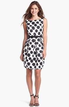 Lovely dress! Bold polka dot print!