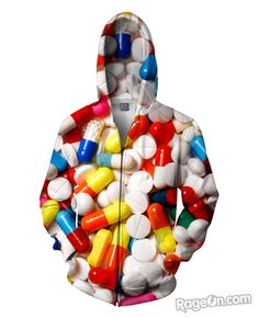 Pills Zip-Up Hoodie - RageOn! - The World's Largest All-Over-Print Online Store