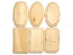 "Unfinished Wood Plaques 3 5"" x 5 5"" Set of 6 Crafts Woodcrafts Unfinished Sign | eBay"
