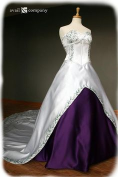 I found 'Final Fantasy Inspired Wedding Dress with Purple & by AvailCo'