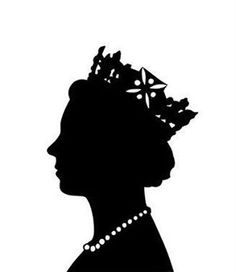 A timelessly lovely silhouette of Queen Elizabeth British Themed Parties, British Party, Queen 90th Birthday, London Party, Elisabeth Ii, Isabel Ii, Thinking Day, Queen Elizabeth Ii, British Royals