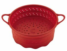 Circulon Tools 6-Quart Collapsible Silicone Steamer Insert, Red *** Read more reviews of the product by visiting the link on the image.