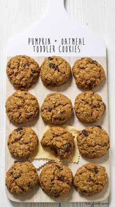 Pumpkin + Oatmeal Toddler Cookies — Baby FoodE | organic baby food recipes to inspire adventurous eating
