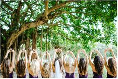 #tridelta Love this sorority wedding photo of Alexandra and her bridesmaids! Photo by www.shutterlifeproductions.com