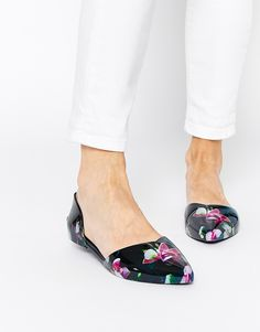 ef41e04385850a Ted Baker Rikyu Print Jelly Two Part Flat Shoes Latest Shoes