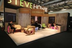 "Our new ""Wavelight"" seating, exhibited at the 2013 Milan show - with Nick, Kieran and Akemi"