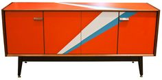 Upcycled 1960s G-Plan sideboard by Lucy Turner #vintage #retro