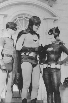 Burt Ward, Adam West, and Yvonne Craig Batman 1966, Im Batman, Batman Comics, Batman Robin, Dc Comics, Batman Tv Show, Batman Tv Series, James Gordon, Adam West Batman