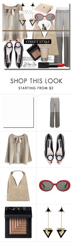 """Shades of Beige"" by wuteringheights ❤ liked on Polyvore featuring Cecilia Pradomurion, Chicwish, Alice + Olivia, INZI, Yves Saint Laurent, NARS Cosmetics, Hanut Singh and WALL"