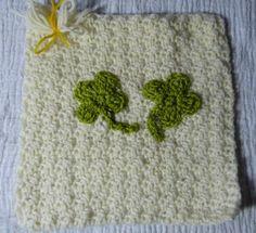 Ireland - Shamrocks by Christine D.  http://www.knit-a-square.com/