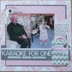 Scrap in pink Scrapbook Layouts, Scrapbooking, Pink Pages, Dads, My Favorite Things, Inspiration, Biblical Inspiration, Fathers, Scrapbooks