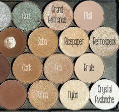MAC Eyeshadows Labeled 2