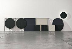 Parentesit de #Arper, una colección modular para pared diseñada por Lievore Altherr Molina.